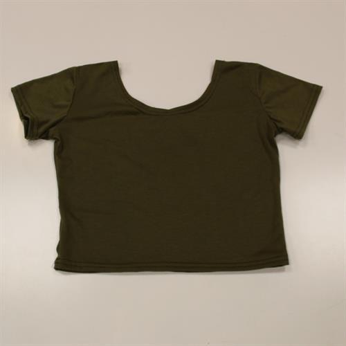 חולצת בטן ירוק זית