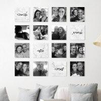 קולאז' תמונות | קולאז' תמונות קאפה לבחירה | עיצוב תמונות לקיר משפחה | הדפסת תמונות | שיש לבן