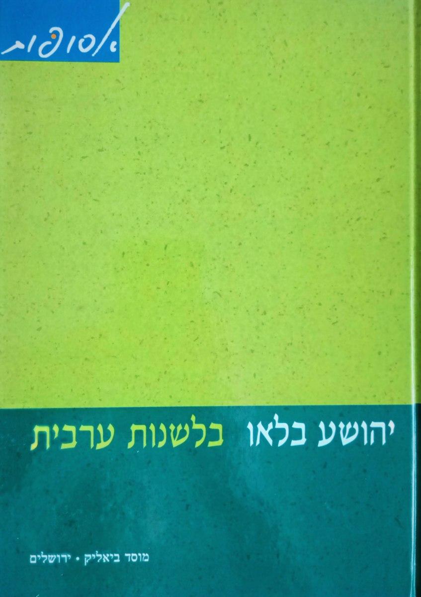 בלשנות ערבית: מאמרים נבחרים על הערבית היהודית והשפה הערבית הקלאסית והבינונית