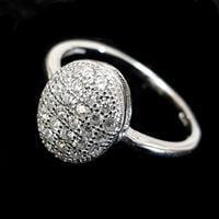 טבעת כסף משובצת זרקונים RG2324