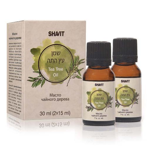 -- עץ התה שמן טהור -- 2 בקבוקים של 15 מל ו-30 מל- שביט