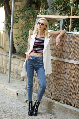 ג'ינס גבוה כפתורים