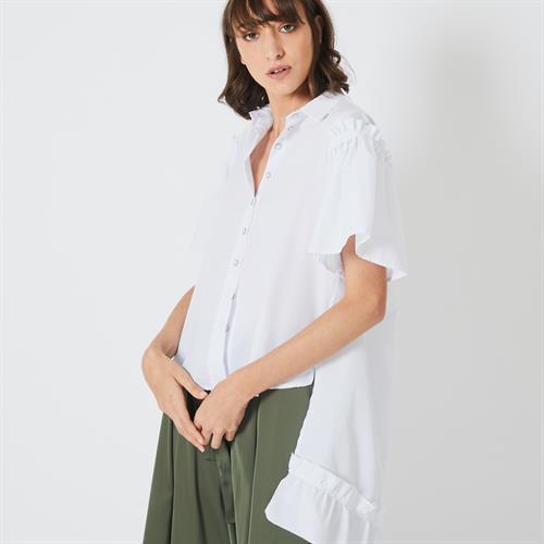 חולצת וואפל לבנה