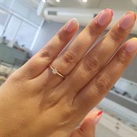 טבעת יהלום 0.16 קראט
