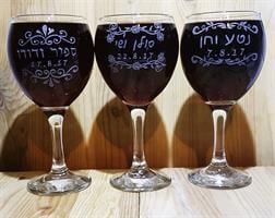 גביעי יין מעוצבים לחתונה