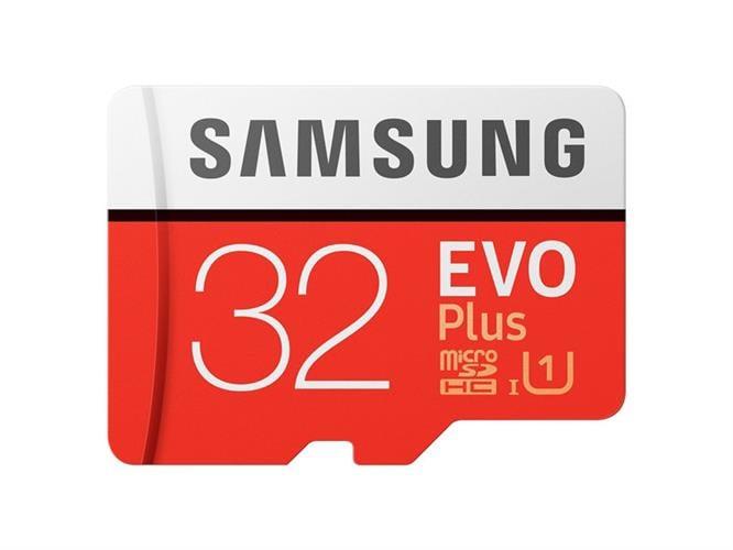 U3 MicroSDHC samsung EVO Plus Memory Card Adapter 32GB ומתנה