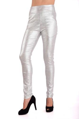 מכנס בצבע כסף קדמי