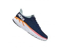 נעלי ריצה לנשים HOKA CLIFTON 7 בצבע כחול/לבן