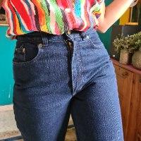 מאם ג'ינס כחול כהה מידה S/M