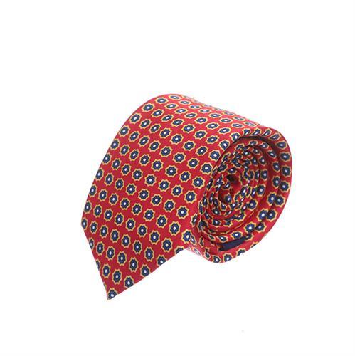 עניבה פרחים קטנים כתום