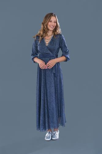 שמלת ערב מקסי כחולה
