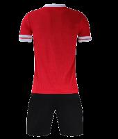 חליפת כדורגל שחור אדום