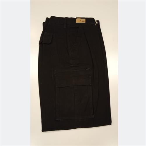 מכנס דגמח +גומי שחור גבר