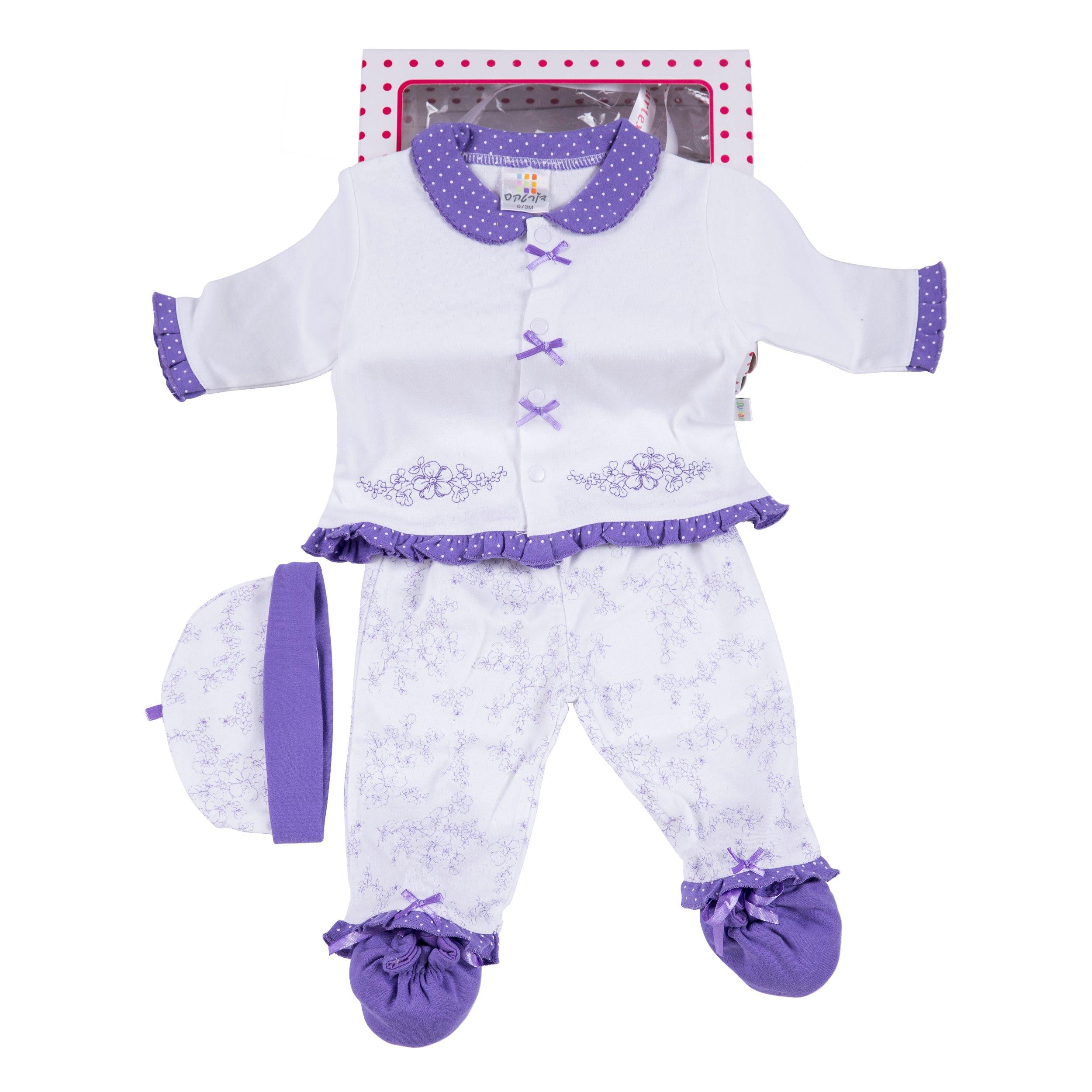 מארז מתנה לתינוקת 7828 סגול