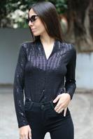 חולצת V אוסקר פאייטים