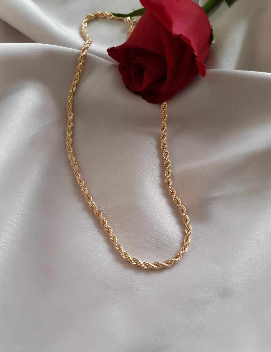 שרשרת חבל סלין זהב