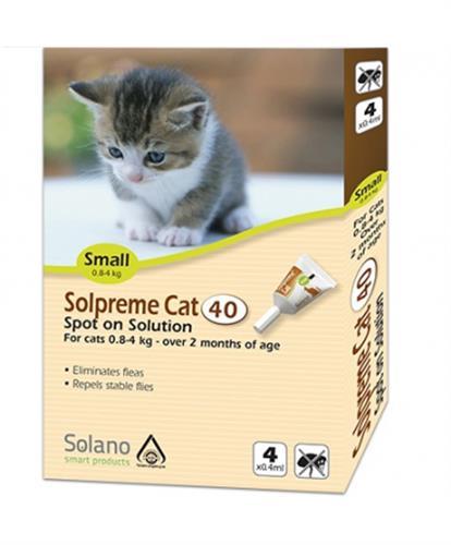 """אמפולות סולאנו סולפרם לחתול 0.6-4 ק""""ג"""