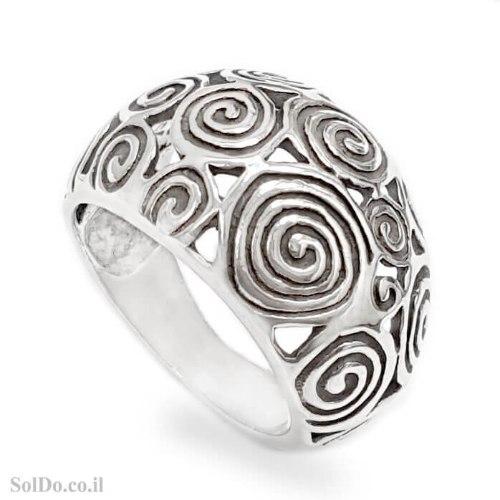 טבעת מכסף רחבה מעוצבת  RG6278 | תכשיטי כסף 925 | טבעות כסף