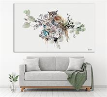 ציור של ינשוף גדול לסלון