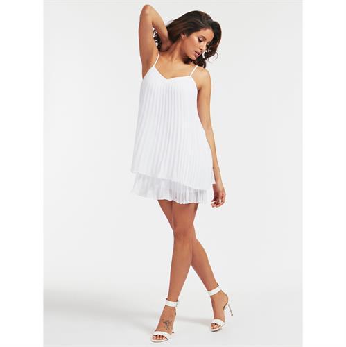 שמלת אוברול פליסה GUESS לבנה