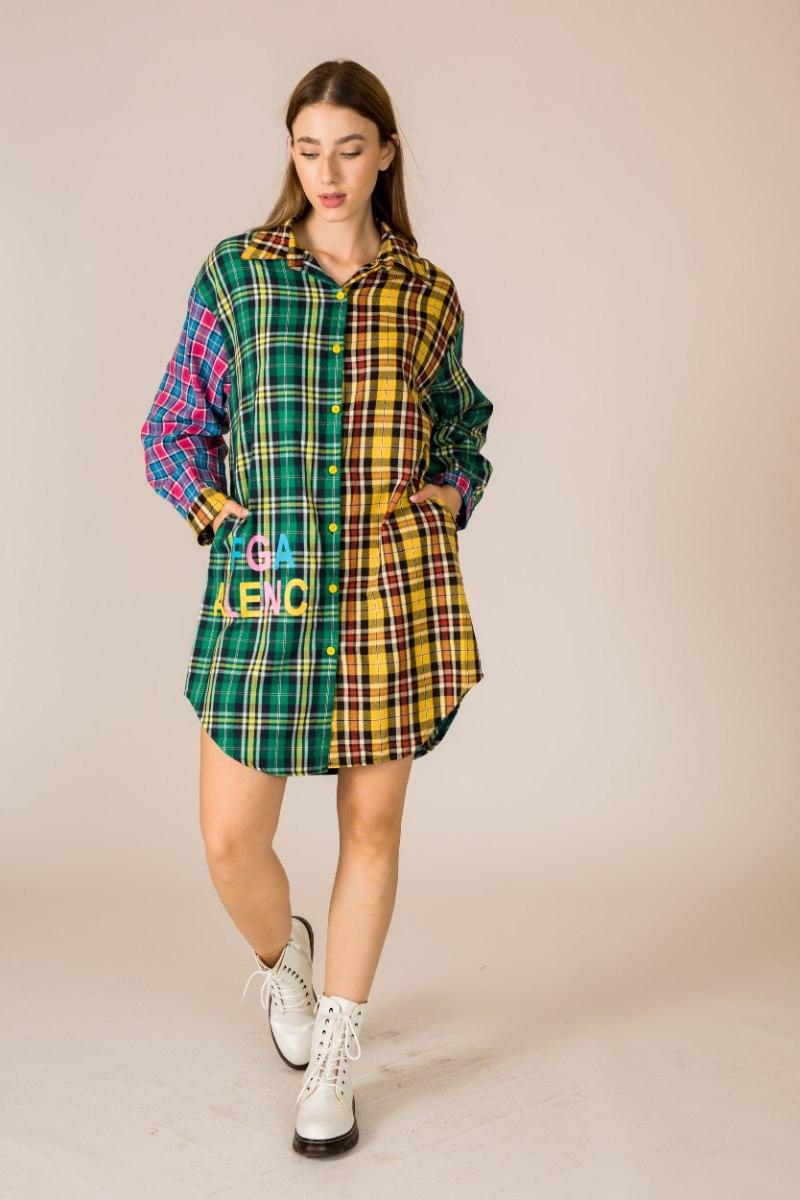 שמלה/ עליונית משובצת שילוב אבנים