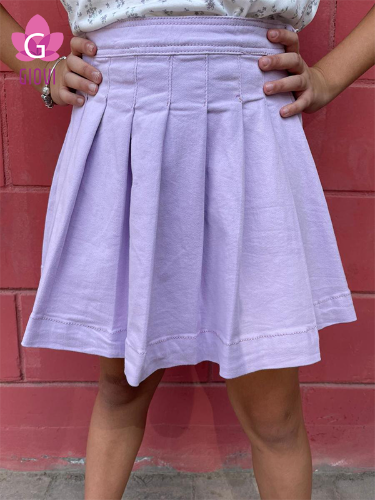 חצאית דריל קפלים סגולה