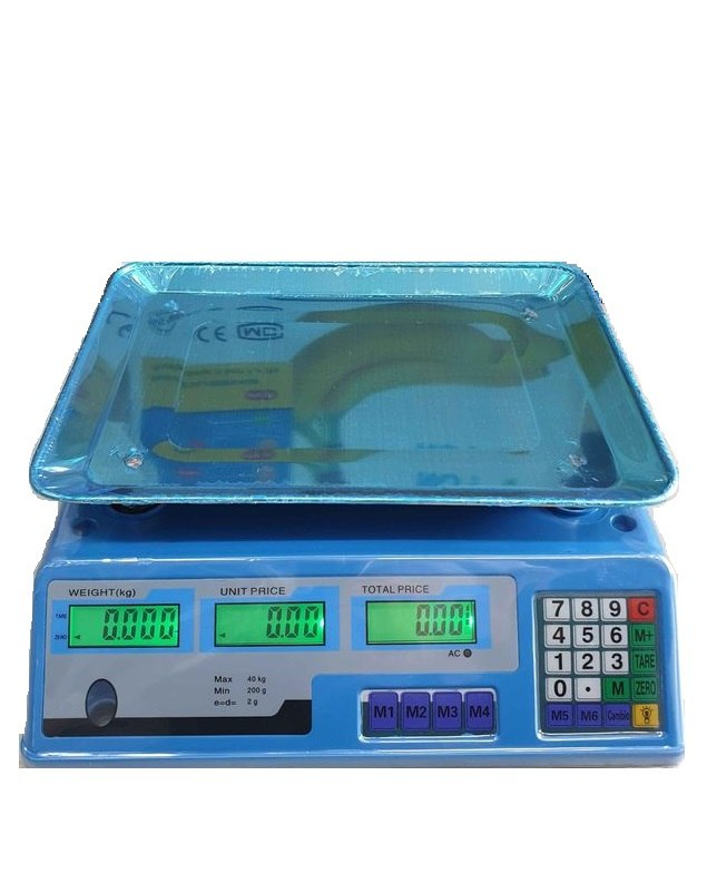 """משקל דלפק נטען עד 40 ק""""ג CE"""