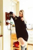 שמלת גולף  סלין שחורה