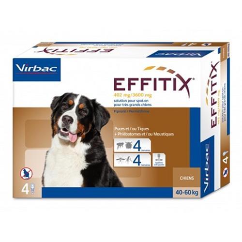 """אפיטיקס Effitix Virbac למשקל 60-40 ק""""ג"""