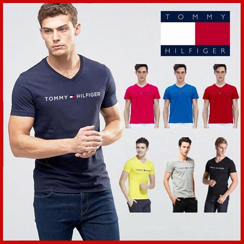 חולצות טריקו צוארון  V   טומי   הילפיגר.