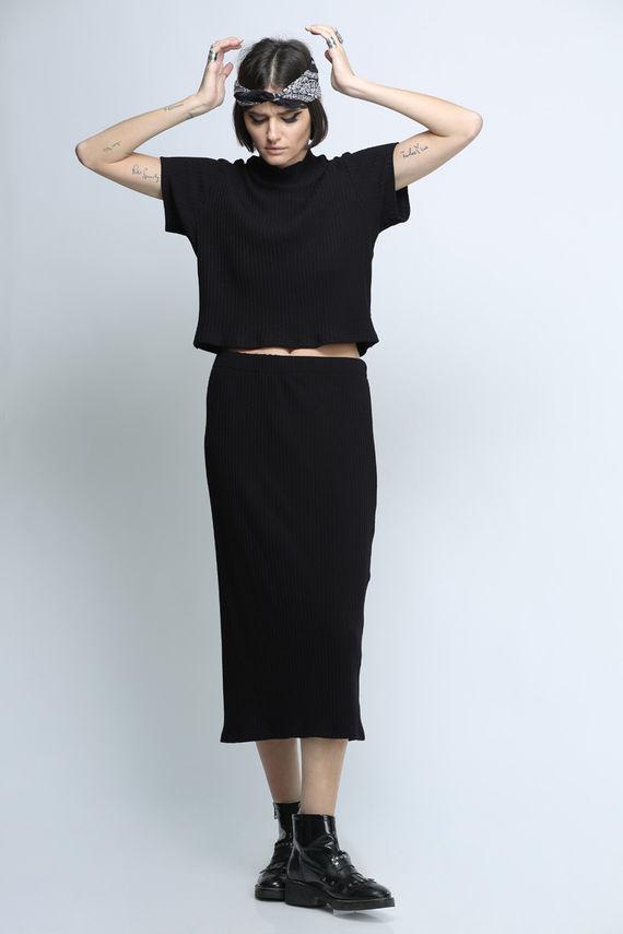 חצאית כריס שחורה