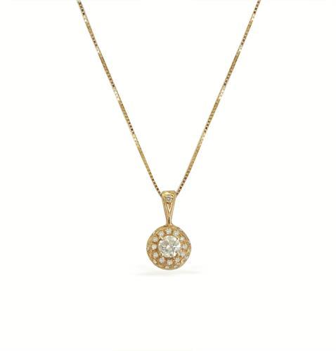 שרשרת יהלומים │ תליונים משובצים יהלומים │ שרשראות זהב עם יהלומים