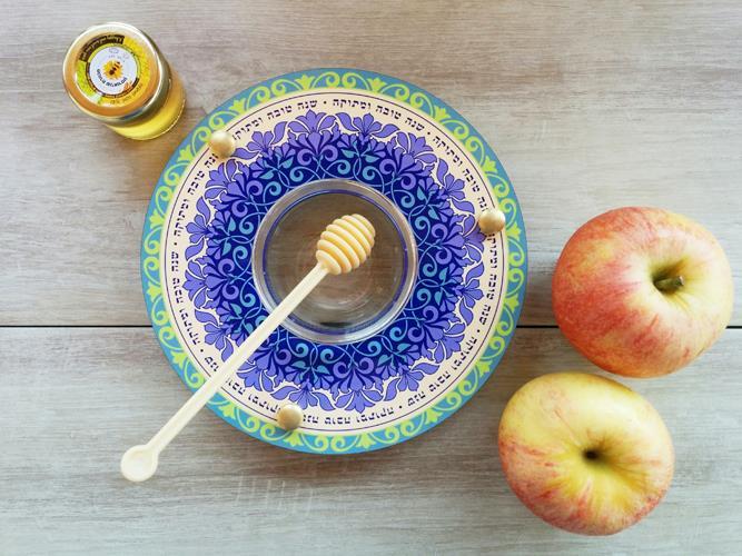 כלי לדבש ותפוחים סגול לילך Dvash_10