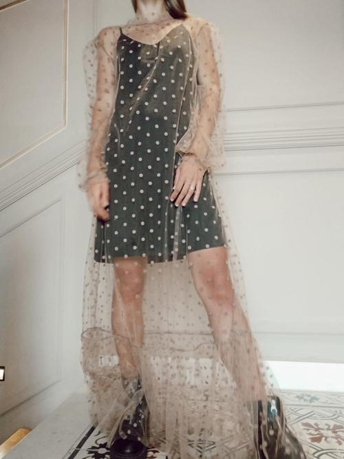 שמלת NUDE DOTS
