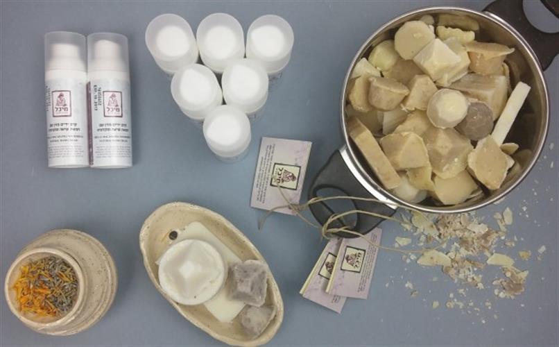 קרמים טבעיים מיכל סבון טבעי