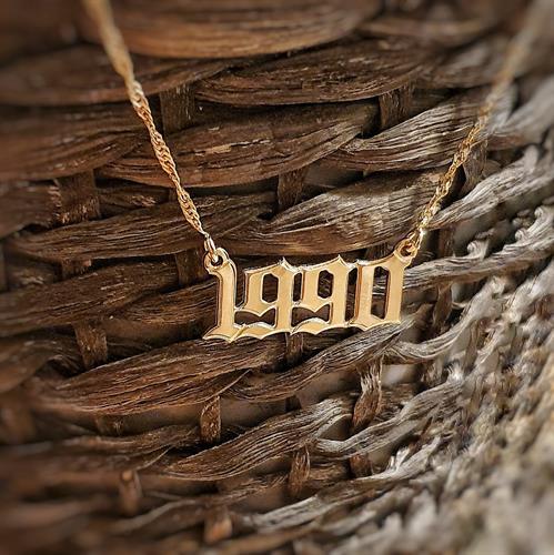 שרשרת שנת לידה גולדפילד/כסף 925