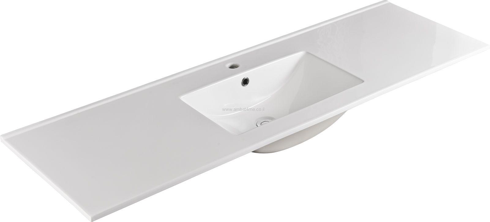 כיור חרס לאמבטיה 150-47 של חברת AMBAT .