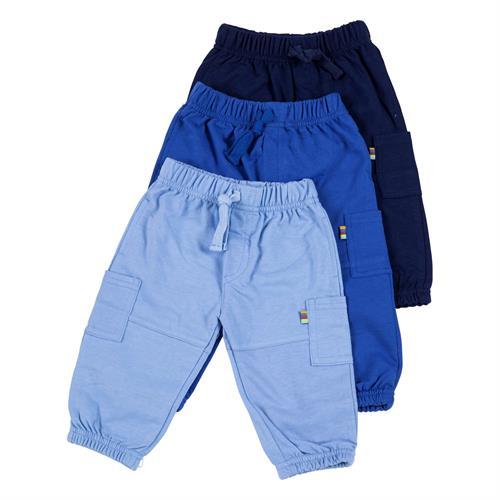 שלישיית מכנסי פרנץ' טרי - 3034 כחול נייבי - כחול - תכלת