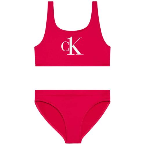 בגד ים ביקיני אדום CALVIN KLIEN - מידות 8-16