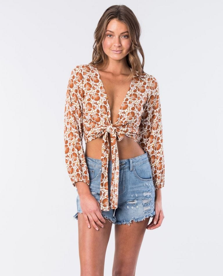 RIP CURL SPICE TEMPLE WRAP TOP