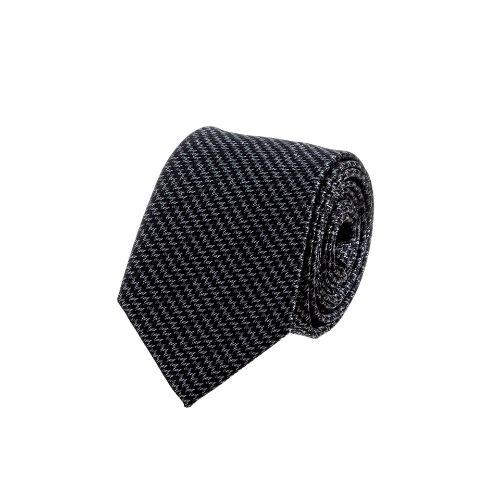 עניבה זיגזג אפור שחור