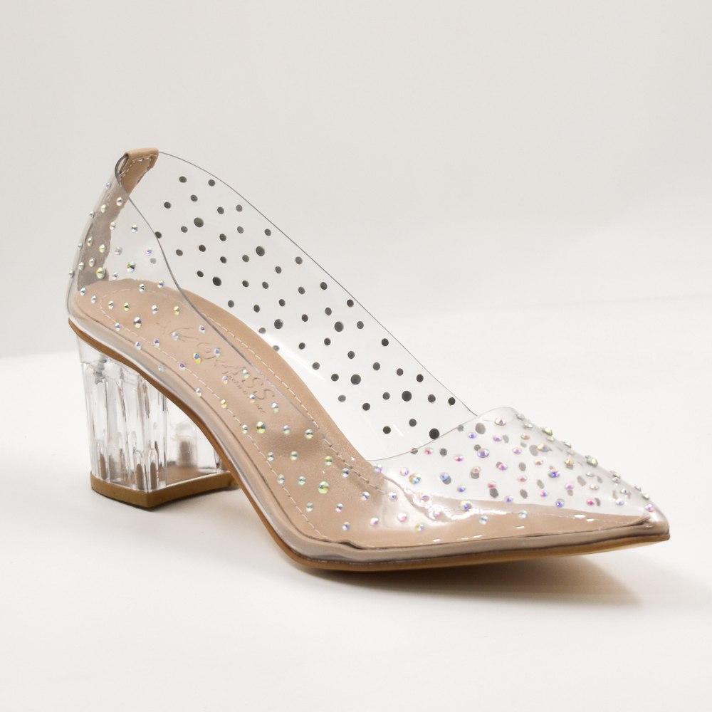 נעלי עקב שקופות שרלוט