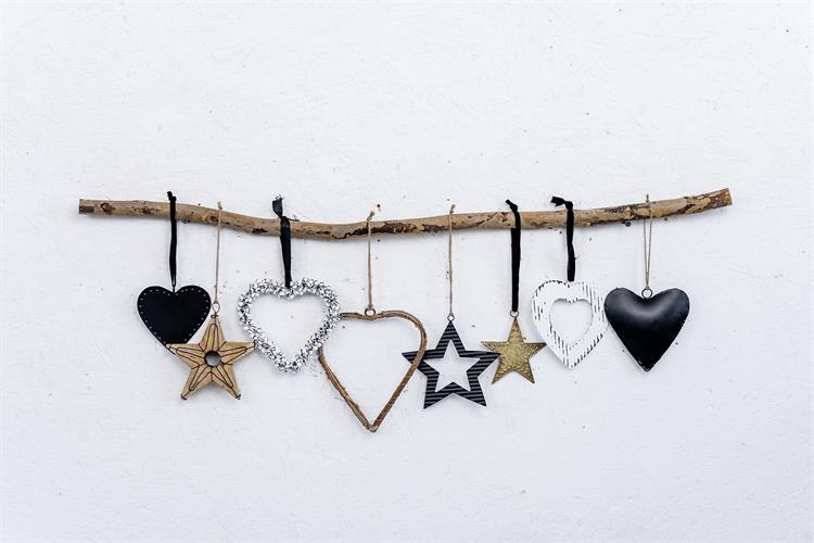 ענף מיקס של 8 יח' כוכבים ולבבות