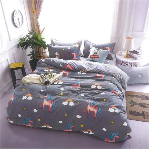 סט מלא מיטה ווחצי דגם חד קרן 3