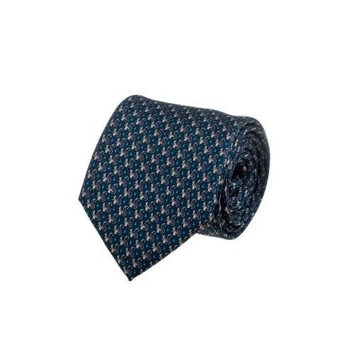 עניבה בהדפס סנאי - טורקיז