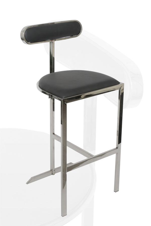 כסא בר ADAGIO מפתח הפריט: 9817  מגיע בצבע: ניקל שחור מידות: 100*70*45