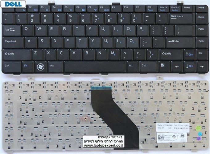החלפת מקלדת למחשב נייד דל Dell Vostro V13 V13Z US Laptop Keyboard V100826AS1 , 046Y1 , 6037B0044401