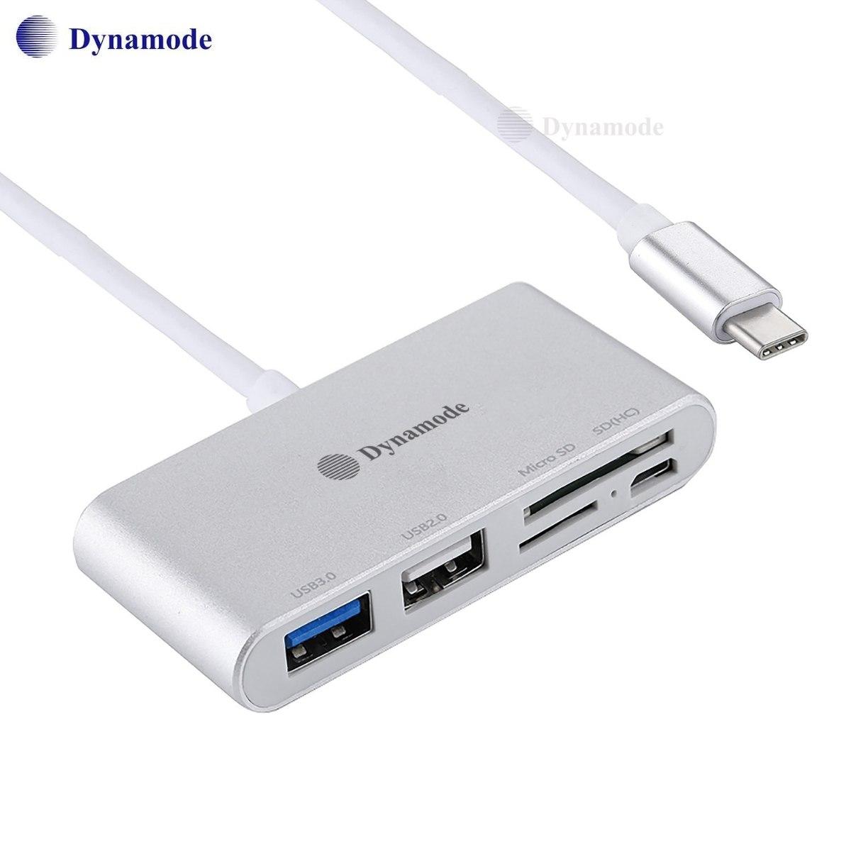 מתאם Type C תחנת עגינה עם חיבורים  SD-Micro SD ,2* USB וmicro USB