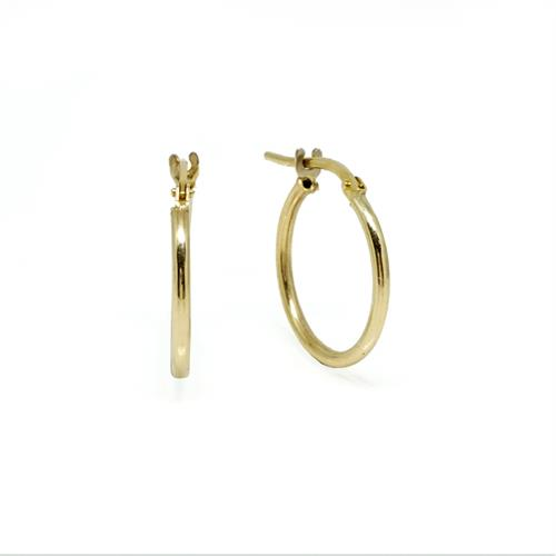 עגילי חישוק זהב חלקים קטנים 14 קראט