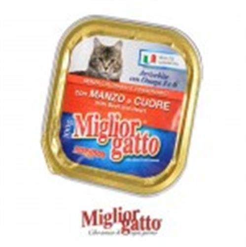 מעדן מיגליאור לחתול בטעם בקר 100 גרם